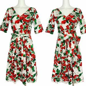 Samantha Sung Robey Dress 8 Fit & Flare Floral